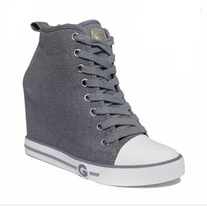 Guess High Top Wedge Shoes Size 6.5